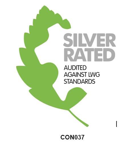 Caravaggio logo LWG silver